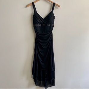 Hi-Low Black Dress